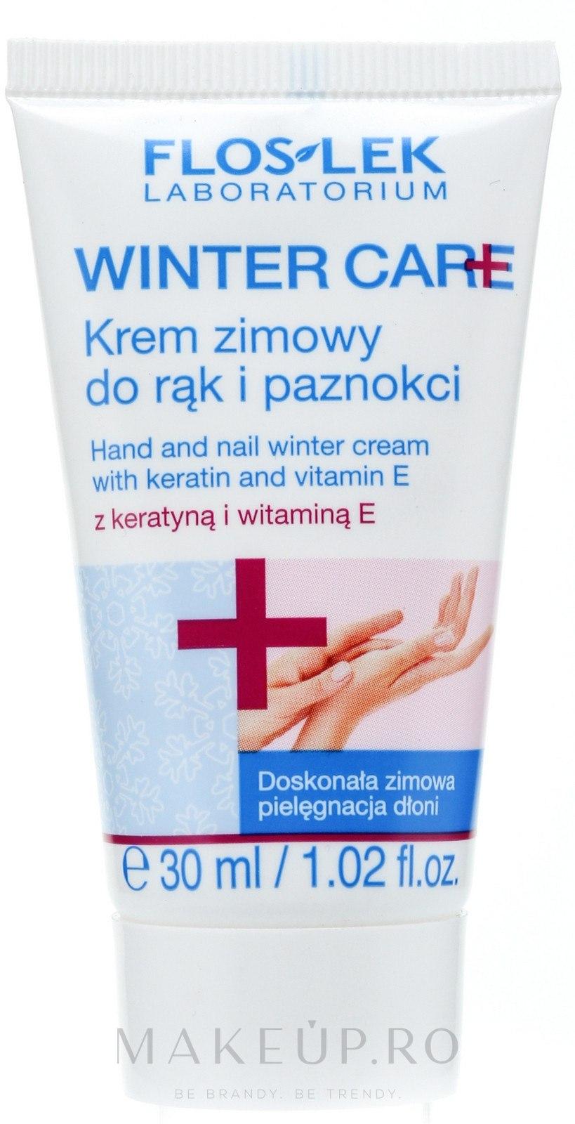 Cremă de mâini și unghii pentru iarnă - Floslek Winter Care Hand And Nail Winter Cream — Imagine 30 ml