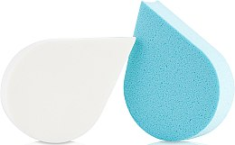 Parfumuri și produse cosmetice Burete de machiaj, 35814, alb + albastru - Top Choice