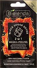Parfumuri și produse cosmetice Mască-Peeling 2 în 1 pentru față - Bielenda Black Sugar Detox (Mini)