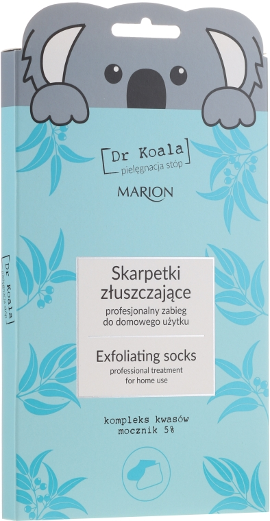Mască-șosete exfoliante pentru picioare - Marion Dr Koala Exfoliating Socks