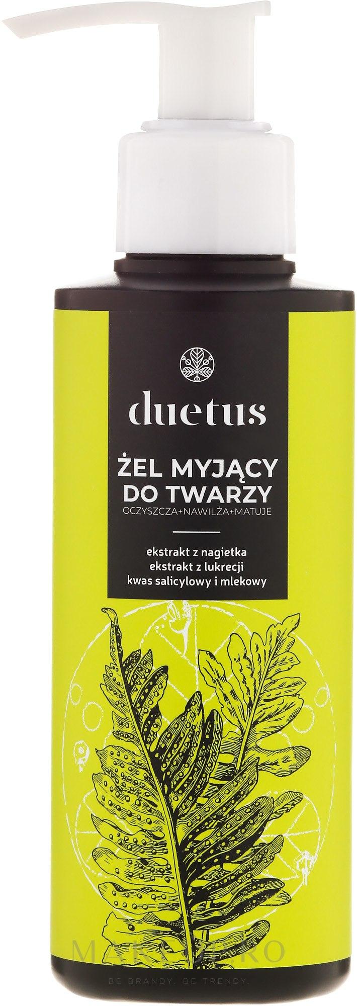 Gel eficient de curățare pentru față - Duetus Face Wash Gel — Imagine 150 ml