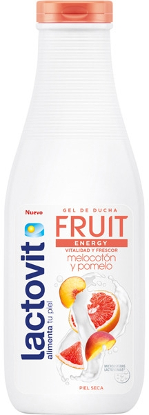 "Gel de duș ""Piersică și Grapefruit"" - Lactovit Fruit Shower Gel — Imagine N1"