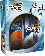 Parfumuri și produse cosmetice Set - Bic Flex 3 Comfort (razor/4buc. + foam/200ml)