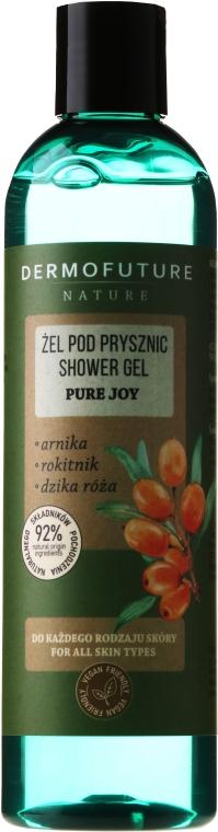 "Gel de duș ""Arnica, Cytisus, trandafir sălbatic"" - Dermofuture Pure Joy Shower Gel — Imagine N1"