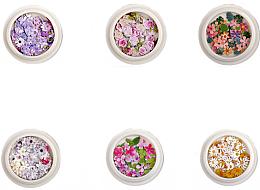 Parfumuri și produse cosmetice Set de abțibilduri (flori) pentru unghii - Deni Cate