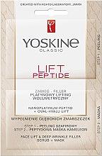 Parfumuri și produse cosmetice Procedură lifting în două etape - Lift Peptide Face Lift and Deep Wrinkle Filler Face Scrub + Mask