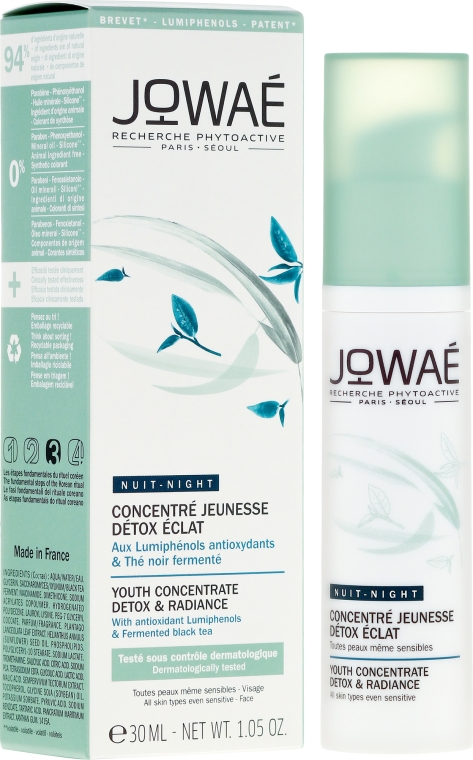 Ser pentru față - Jowae Night Youth Concentrate Detox & Radiance — Imagine N1