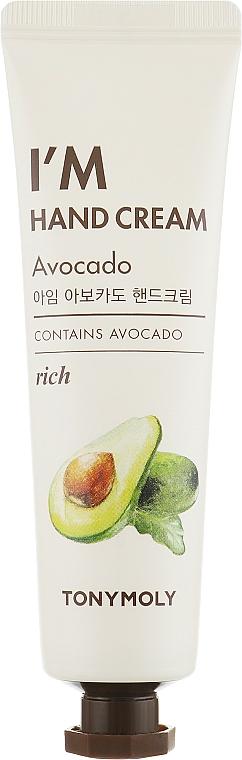 """Cremă de mâini """"Avocado"""" - Tony Moly I'm Hand Cream Avocado — Imagine N1"""