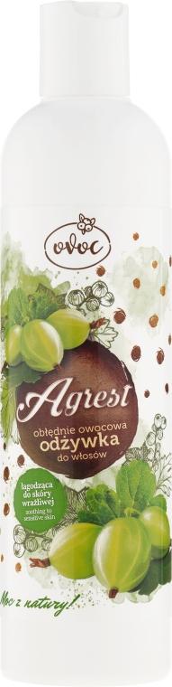 Balsam cu extract de agrișe, alge marine și unt de Shea pentru păr - Ovoc Agrest Conditioner
