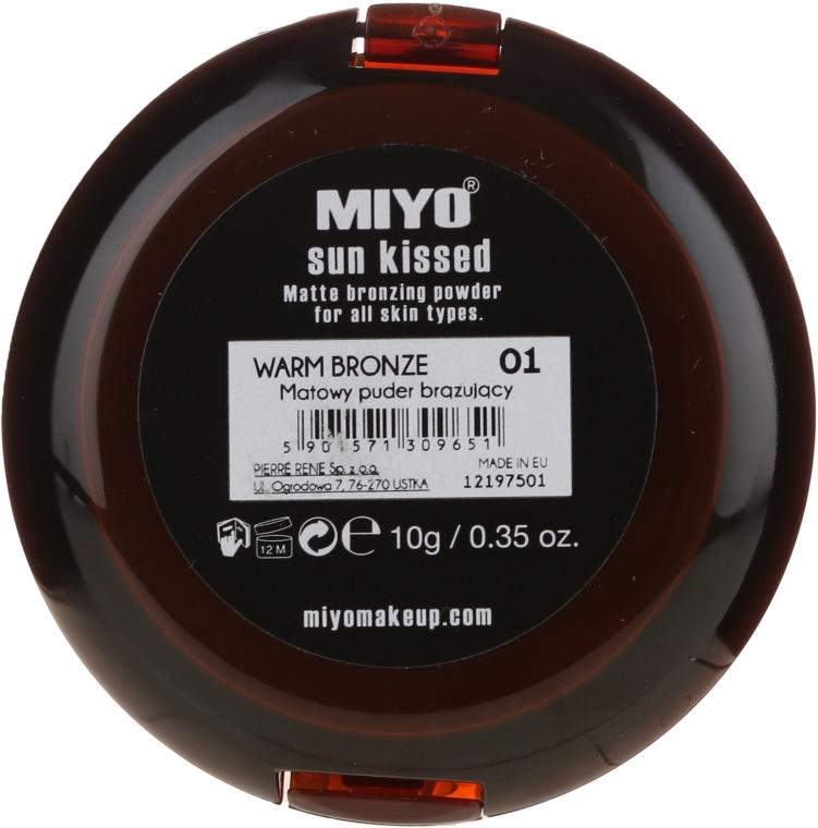 Pudră bronzantă - Miyo Sun Kissed Matt Bronzing Powder — Imagine N2