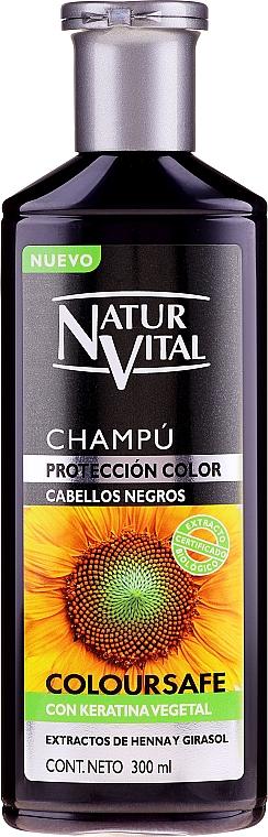 Șampon pentru menținerea culorii - Natur Vital Coloursafe Henna Colour Shampoo Black Hair — Imagine N1