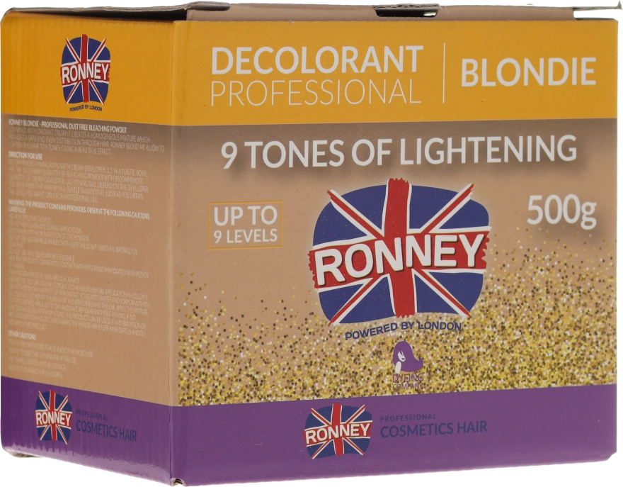 Pudră decolorantă până la 9 tonuri - Ronney Professional Decolorant Professional Blondie
