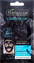 Parfumuri și produse cosmetice Mască de curățare cu cărbune pentru ten uscat - Bielenda Carbo Detox Cleansing Mask Dry and Sensitive Skin