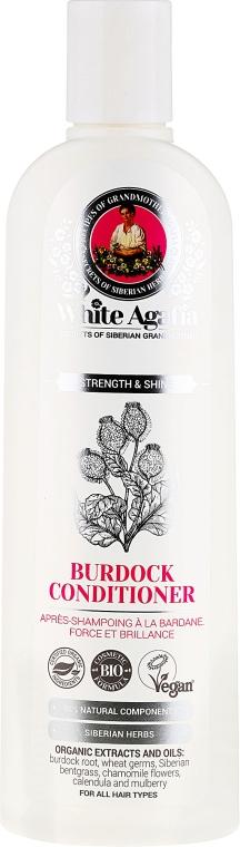 """Balsam de păr cu brusture """"Întărire și strălucire"""" - Rețete bunicii Agafia White Agafia Burdock Conditioner  — Imagine N1"""