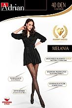 "Parfumuri și produse cosmetice Dresuri pentru femei ""Melania String"", 40 Den, nero - Adrian"