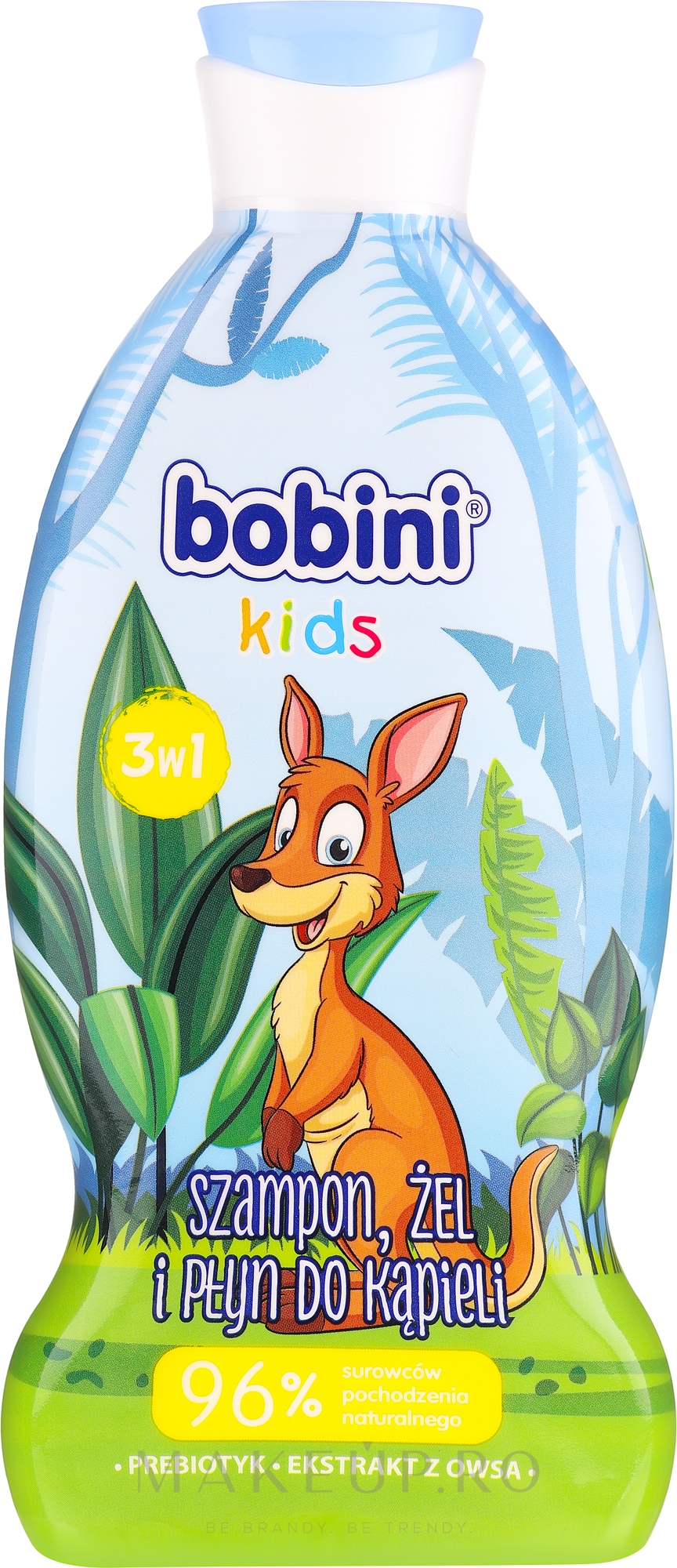 Șampon-gel de duș - Bobini — Imagine 330 ml