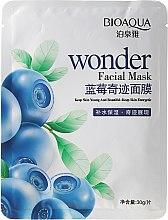 """Parfumuri și produse cosmetice Mască de țesut pentru față """"Blueberry"""" - Bioaqua Wonder Facial Mask"""