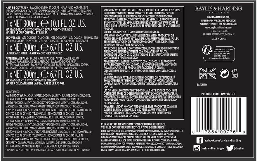 Set - Baylis & Harding Black Pepper & Ginseng (sh/gel/200ml + a/s/balm/200ml + wash/300ml) — Imagine N2