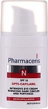 Parfumuri și produse cosmetice Cremă intensivă pentru diminuarea cearcănelor și a pungilor de sub ochi - Pharmaceris N Opti-Capilaril Intensive Eye Cream Reducing Dark Circles and Puffiness