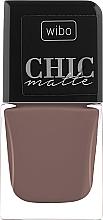 Parfumuri și produse cosmetice Lac de unghii, mat - Wibo Chic Matte