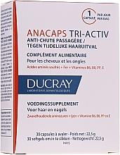 Supliment alimentar pentru scalp, păr și unghii - Ducray AnaCaps Tri-Activ Capsule — Imagine N1