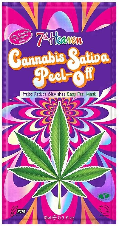 CADOU Mască-peliculă cu ulei de cânepă - 7th Heaven Cannabis Sativa Peel-Off Mask — Imagine N1