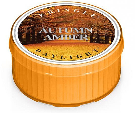 Lumânare aromată - Kringle Candle Autumn Amber Daylight — Imagine N1