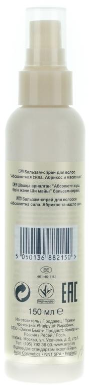 """Balsam-spray pentru păr """"Forță absolută. Caise și unt de shea"""" - Avon — Imagine N2"""