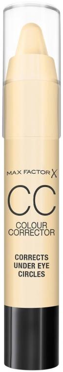 Corector de față - Max Factor CC Colour Corrector Corrects Under Eye Circles Yellow — Imagine N1