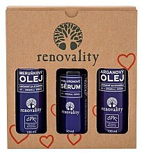 Parfumuri și produse cosmetice Set - Renovality Original Series Argan Oil Set (oil/2x100ml+ser/50ml)