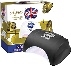Parfumuri și produse cosmetice Lampă LED pentru unghii, neagră - Ronney Professional Agnes LED 48W (GY-LED-032)