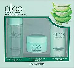 Parfumuri și produse cosmetice Set - Holika Holika Aloe (toner/50ml + emulsion/50ml + cr/20ml)
