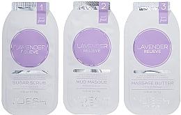 """Parfumuri și produse cosmetice Tratament SPA pentru unghii și mâini """"Lavandă"""" - Voesh Mani In A Box Waterless 3 Step Lavander Relieve"""