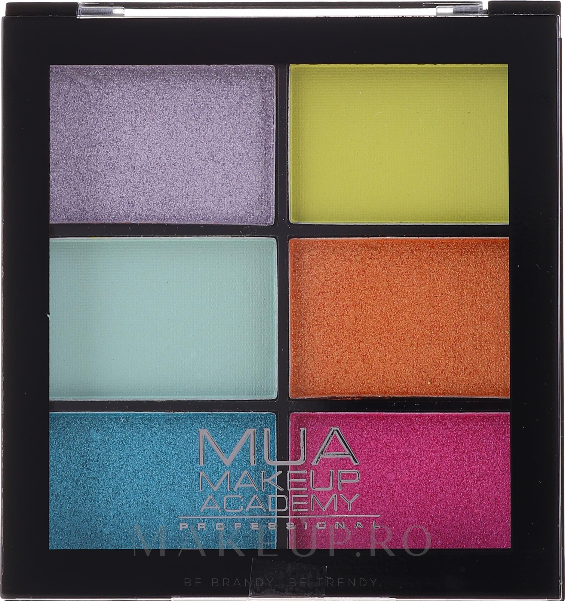 Paletă farduri de ochi - MUA Makeup Academy Professional 6 Shade Palette — Imagine Bright Lustre