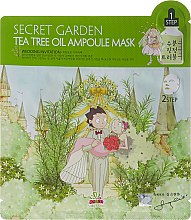 Parfumuri și produse cosmetice Mască de țesut cu extract de arbore de ceai - Sally's Box Secret Garden Tea Tree Oil Ampoule Mask