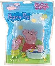"""Parfumuri și produse cosmetice Burete de baie """"Purcelușa Peppa"""", vara, albastră - Suavipiel Peppa Pig Bath Sponge"""