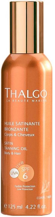 Ulei satinat pentru bronz - Thalgo Satin Tanning Oil SPF 6 — Imagine N1