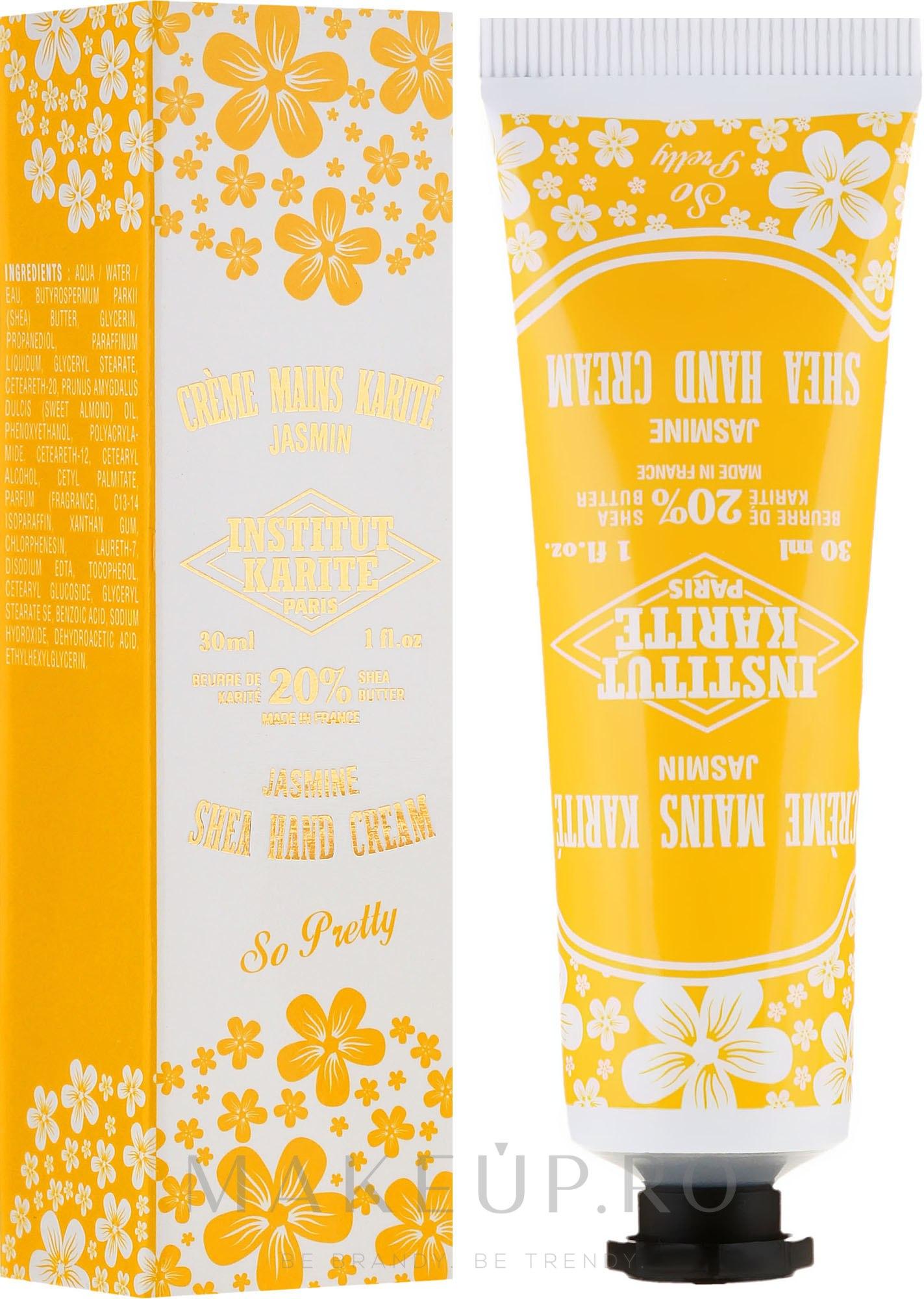 Cremă de mâini - Institut Karite So Pretty Hand Cream Jasmine — Imagine 75 ml