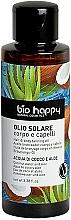 """Parfumuri și produse cosmetice Ulei pentru bronz """"Apă de cocos și aloe"""" - Bio Happy Hair & Body Tanning Oil Coconut Water And Aloe"""