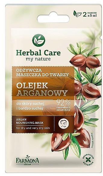 Mască nutritivă ten uscat - Farmona Herbal Care — Imagine N1