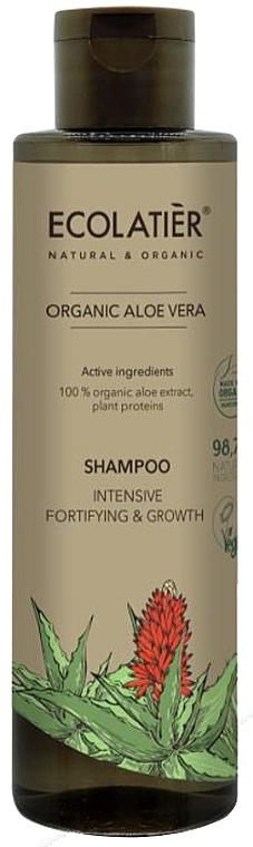 """Șampon pentru păr """"Recuperare și creștere intensivă"""" - Ecolatier Organic Aloe Vera Shampoo"""
