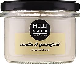 """Parfumuri și produse cosmetice Lumânare aromatică """"Vanilie și Grapefruit"""" - Melli Care Vanilla & Grapefruit Soy Wax Scented Candle"""
