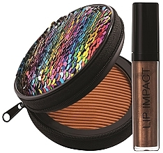 Parfumuri și produse cosmetice Set - NoUBA Sunlike Natural Tan №3 (f/powder/15g + lip gloss/6ml)