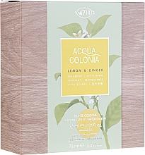 Parfumuri și produse cosmetice Maurer & Wirtz 4711 Aqua Colognia Lemon & Ginger - Set (edc/50ml + sh/gel/75ml)