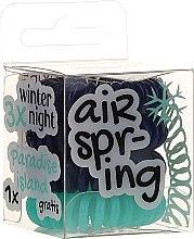 Parfumuri și produse cosmetice Set elastice de păr, 4 buc., albastru închis + turcoaz - Hair Springs