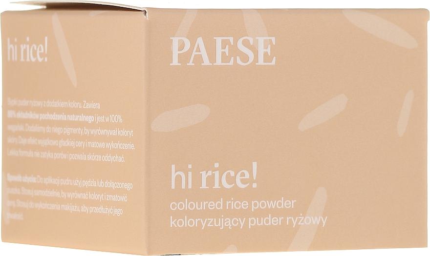 Pudră de orez pentru față - Paese Hi Rice Coloured Rice Powder