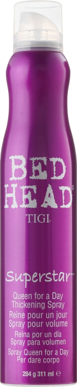 Spray de păr pentru volum - Tigi Superstar Queen For A Day Thickening Spray  — Imagine N1