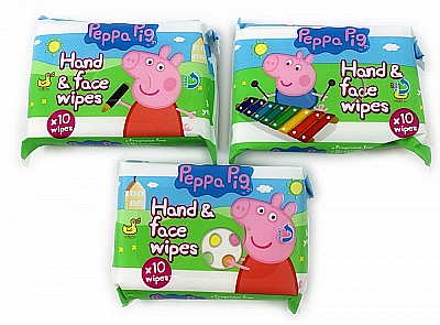 Șervețele umede - Kokomo Peppa Pig Peppa Hand & Face Wipes — Imagine N2