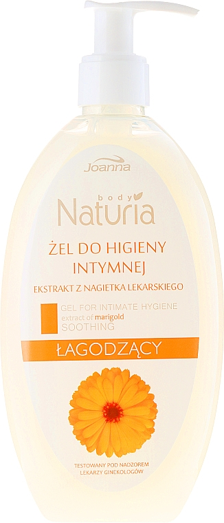 Gel pentru igiena intimă cu extract de gălbenele - Joanna Naturia Intimate Hygiene Gel