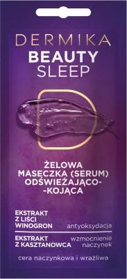 Mască de gel răcoritoare și calmantă pentru față - Dermika Beauty Sleep — Imagine N1